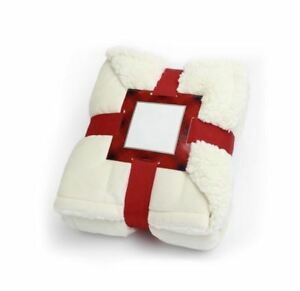 Charter Club Reversible Sherpa Throw Universal Throw Blanket Ivory -  MSRP $60