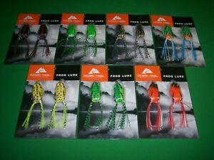 Hollow Body Weedless Topwater Frog Lure Kit  7 Pack Lot - 14 Total Frogs