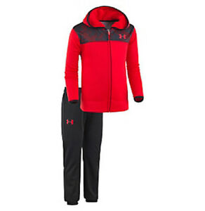 NWT Under Armour 2T Toddler Boy 2 Piece Utility Track Set Outfit Zip Hoodie