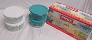Pyrex 8 Piece Mixing Bowl Set with Lids - Microwave, Dishwasher,
