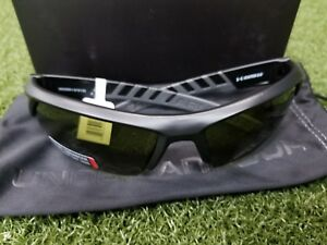 New Under Armour Igniter 2.0 Satin Black Game Day GoldSport Sunglasses