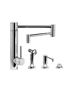 Waterstone 3600-18-3-SS Hunley Kitchen Faucet - 18
