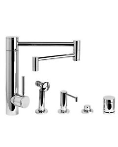 Waterstone 3600-18-4-SS Hunley Kitchen Faucet - 18