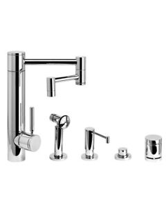 Waterstone 3600-12-4-PC Hunley Kitchen Faucet - 12