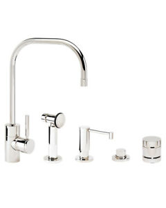 Waterstone 3825-4-SS Fulton Kitchen Faucet - 4pc. Suite Stainless Steel