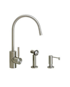 Waterstone 3800-2-SS Parche Kitchen Faucet - 2pc. Suite Stainless Steel