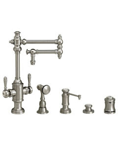 Waterstone 8010-12-4-WC Towson Two Handle Kitchen Faucet - 4pc. Suite