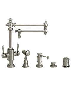 Waterstone 8010-18-4-AC Towson Two Handle Kitchen Faucet - 4pc. Suite