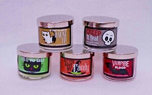 Bath & Body Works Halloween Mini Candles 1.3 oz Set of 5 Different Scents