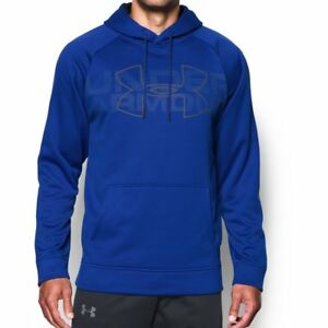 Mens Under Armour Armour Fleece Graphic PO Hoodie Royal XL-T