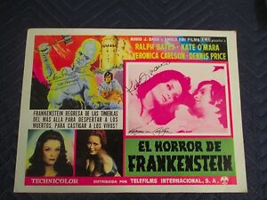 Horror Of Frankenstein Signed By Kate O'maraDavid Prowse Veronica Carlson