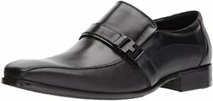 Kenneth Cole REACTION Men's Design 20722 Loafer Buckle Black Leather Dress Shoe