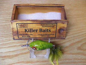 Killer Baits Rusty Jessee Heddon Baby Killer in Brook Trout Color Wood Box