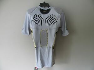 NWT Under Armour Heat Gear MPZ 5 Pad Armour Football Compression Shirt XXL Gray