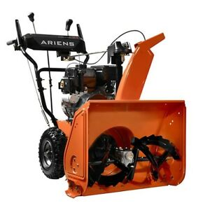 Snow Electric Start Blower Gas Stage Thrower Single 24 New Power Two Powered