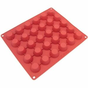 CB-101RD 30-Cavity Silicone Mold For Making Homemade Chocolate Peanut Butter And