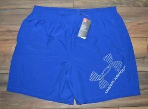 Under Armour Quick Dry Shorts Loose Fit Heat Gear Performance Short Blue
