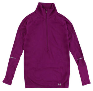 Under Armour Womens Run Seamless Half Zip Shirt Purple