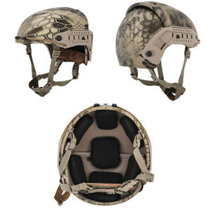 Lancer Tactical CP AF Style Airsoft Mil-Sim Helmet in HLD Camo CA-761H