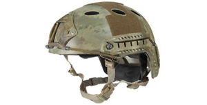 Lancer Tactical PJ Type Airsoft MilSim ATH Helmet in AT Camo MedLrg CA-725MA