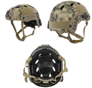 Lancer Tactical PJ Type Airsoft MilSim ATH Helmet in HLD Camo MedLrg CA-725MH