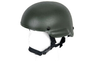 Lancer Tactical MICH 2002 Airsoft MilSim Helmet in Olive Drab OD Green CA-336G