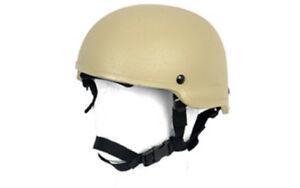 Lancer Tactical MICH 2002 Airsoft MilSim Helmet in Tan CA-336T
