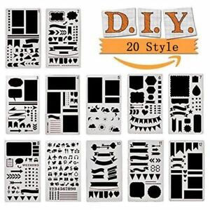 Multi-style Plastic Bullet Journal Stencils Journal Notebook Diary Scrapbook DIY