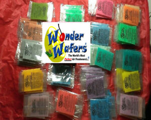 24 ~Wonder Wafers Car Freshener multi Variety Pack ~ ALL Scents/1 of each Scent~