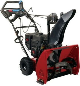 Snow Blower Thrower 24 Inch 252cc Single Stage Gas Engine Adjustable Pace