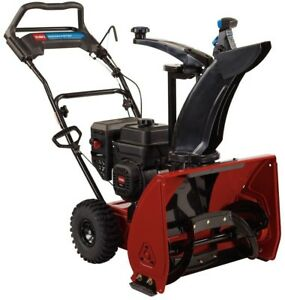 Snow Blower Thrower 24 Inch 212cc Single Stage Gas Engine Adjustable Pace