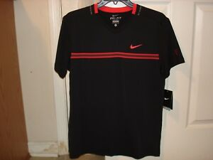 NWT Nike Federer RF Premier Smash V Neck Tennis Shirt 451579-010 Nadal ML