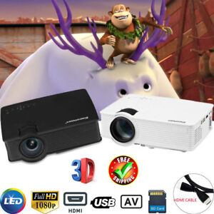 7000 Lumen LED Video Projector 3D 1080P HD Multimedia Home Theater HDMIUSBSD