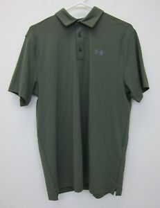 Under Armour Men's Playoff Vented Polo Shirt Medium Olive  NWT