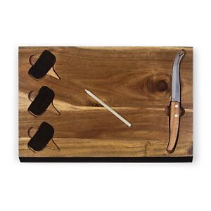Picnic Time Delio Cutting Board and Cheese Tools Serving Set (833-00-512)