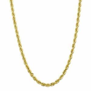 Unisex Adult 10K Yellow Gold Handmade 6.00MM Rope Chain MSRP $0