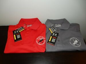 Two NWT Youth Small Under Armour Hilton Head Jr Golf Assoc Shirts