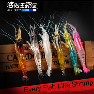 Artificial Luminescent Shrimp Fishing Lures Fishing Luminous Fishing Baits Hooks
