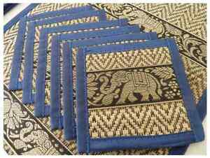 Auth. Nature beautiful Thai table dining Placemats a set of 12 pcs ( 6 pairs )