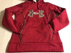 $65 NEW Women's S UA UNDER ARMOUR STORM1 CG Real Tree Camo Loose Hoodie 1247106