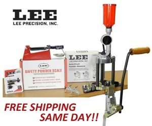 90928 LEE Value 4 Hole Turret Press KIT w NEW Auto Drum Powder Measure New!
