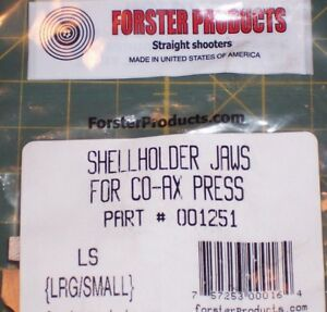 Forster Co-Ax Press LS SHELLHOLDER JAWS Large & Small #001251              BCP36