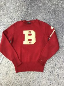 1930s Vintage Rugby Football University Collegiate Wool Sweater Letterman