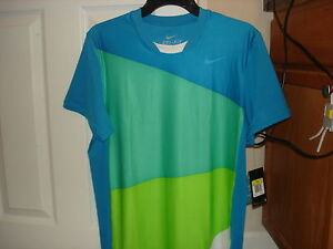NWT Nike Nadal French Open 2010 Rush & Crush Tennis Shirt Federer 373295-481 M L