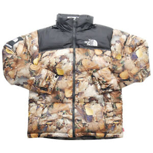 SUPREME  THE NORTH FACE 16 AW Nuptse Jacket Leaf Camo Down Jacket BROWN XL