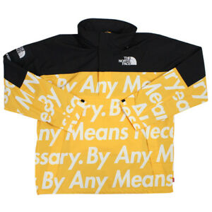 SUPREME  THE NORTH FACE 15 AW Mountain Pullover jacket YELLOW L