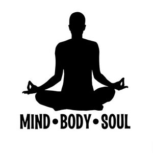 Yoga Mind Body Soul Decal Window Bumper Sticker Car Decor Meditation Exercise