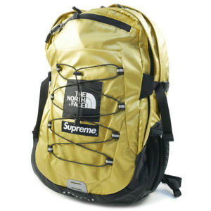 SUPREME  THE NORTH FACE 18 SS Metallic Borealis Backpack Backpack GOLD FREE