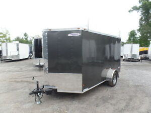 Enclosed Trailer 7#x27;x12#x27; Single Axle 3500 lbs V Nose
