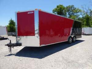 Enclosed Trailer 8.5#x27;x22#x27; Red amp; Black Car Hauler